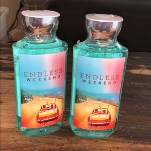 Set of 2 NWT endless weekend body wash